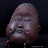Antique Copper Noh Theatre Mask Signed Kiyama Hikaru