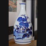 Kutani Tokkuri Sake Bottle 1900 to 1930s