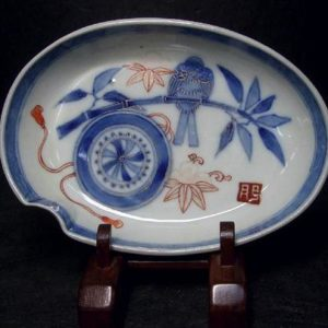 Two Antique IMARI Some-Nishiki Plates