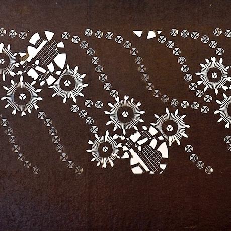 Framed Katagami Stencil from EDO Era