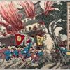 Mounted Nobukazu Triptych SINO Japan War