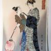 Courting Komachi Mounted Woodblock Kunisada 1