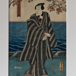 Original 1853 Toyokuni Print The Gambler