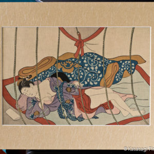 Sukenobu Mounted Pillow Print Sleeping Woman