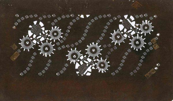 Edo Era Katagami Stencil One