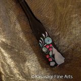 Antique Red Coral And Mother of Pearl Kanzashi