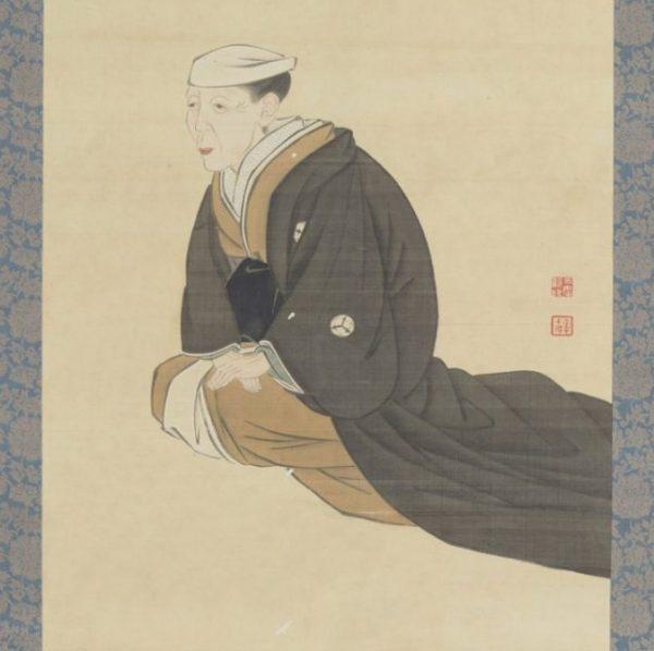 Antique Japanese Scroll Samurai Matriach