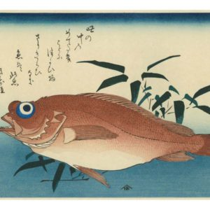 Hiroshige Sea Bream Woodblock Print