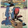 Kuniyoshi Woodblock Print Geisha And Tansu