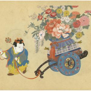 15 Rare Antique Japanese Omocha-e Children's Prints