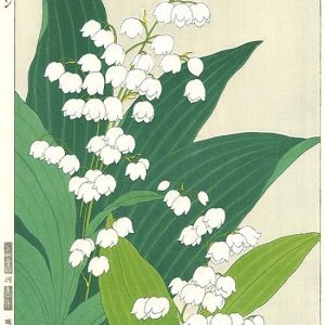 Teru Kuzuhara Lily Of The Valley Woodblock Print