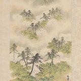 Antique Scroll Spring River Landscape By Shoka
