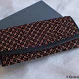 Japanese Deerskin Ladies Wallet Pink Cherry Blossoms