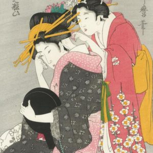 Utamaro Two Women Woodblock Print