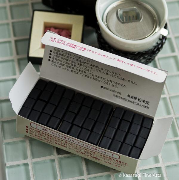 Shoyeido Miyako Sumi Charcoal 48 Pieces