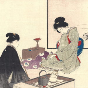 Late Meiji Era Kuchi-e Woodblock Print 7