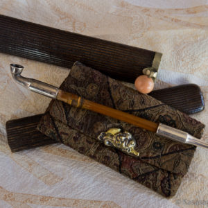 Japanese Antique Tobacco Pouch and Pipe Case
