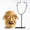 Signed Asakura-Jo Noh Mask On Custom Stand