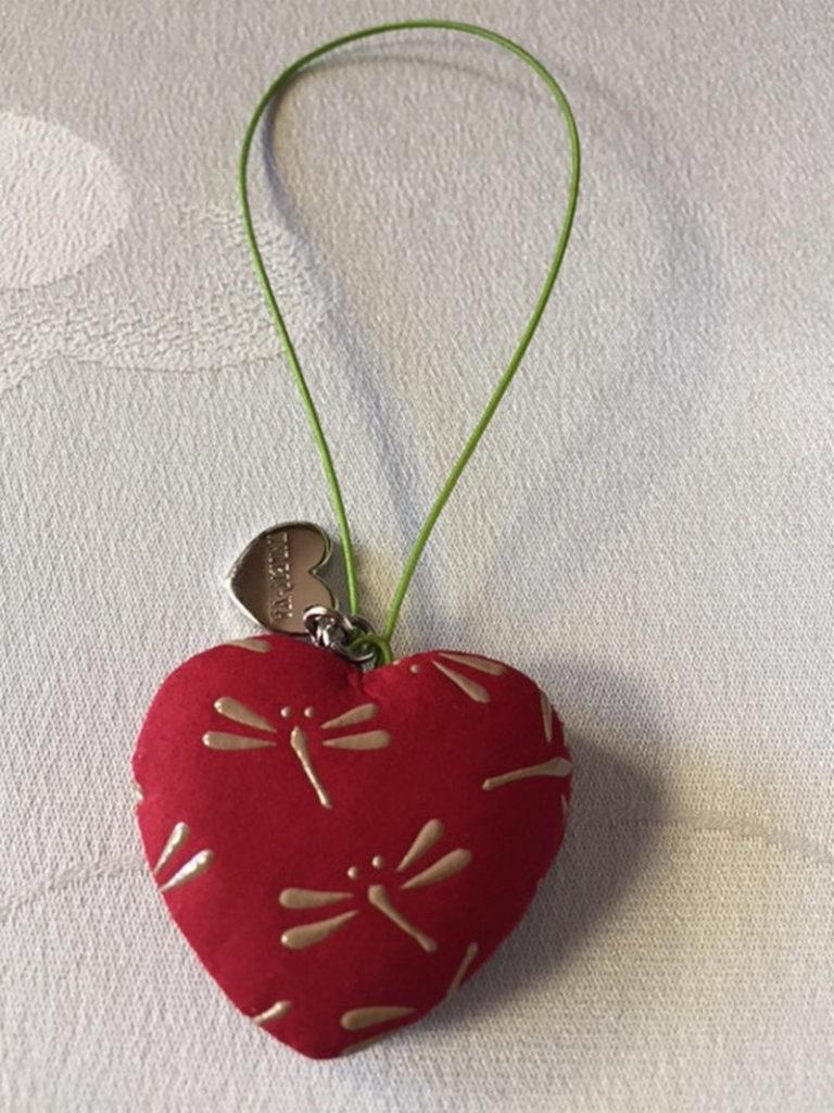 Japanese Deerskin Dragonflies Heart Charms