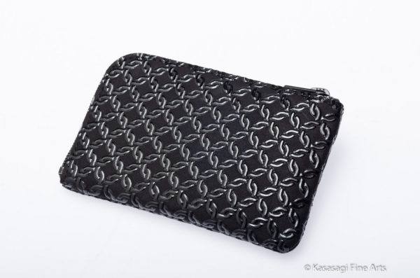 Japanese Deerskin Credit Card Holder Borromean Rings