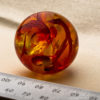 Large Antique Japanese Amber Ojime