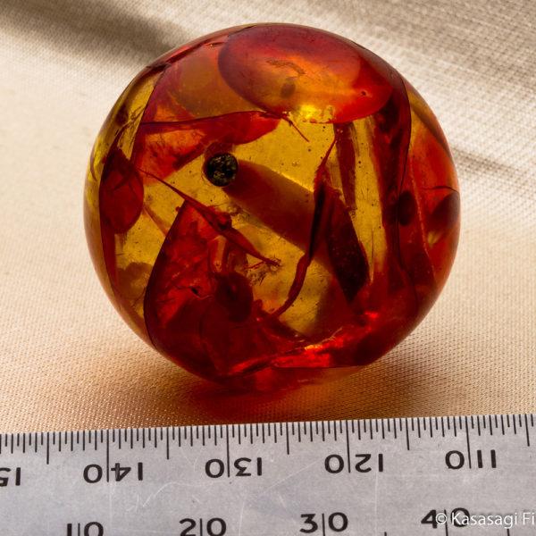 Large Antique Japanese Amber Ojime