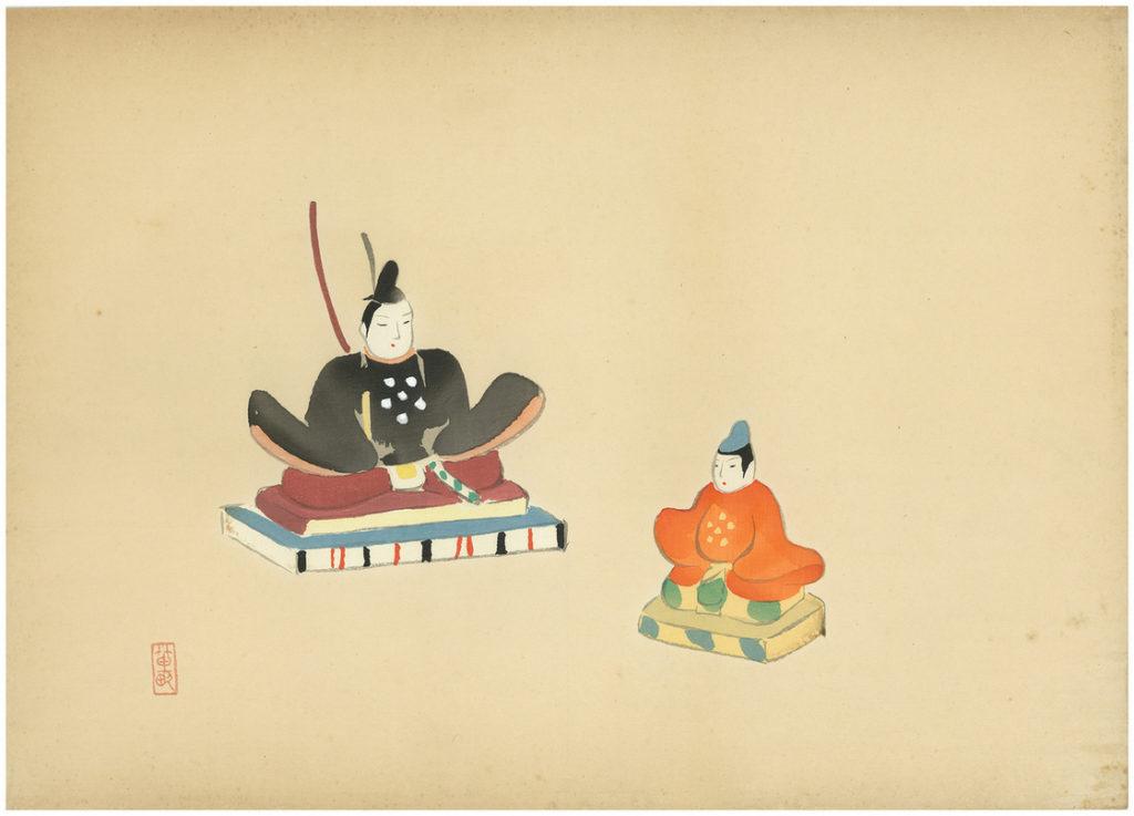 NISHIZAWA TEKIHO WOODBLOCK PRINT ROYAL SCENE