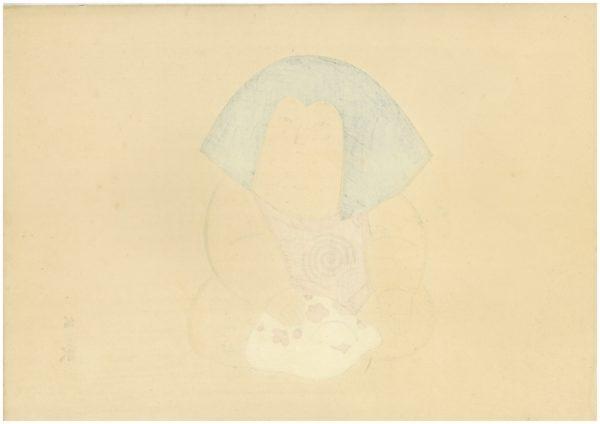 NISHIZAWA TEKIHO WOODBLOCK PRINT JAPANESE DOLL