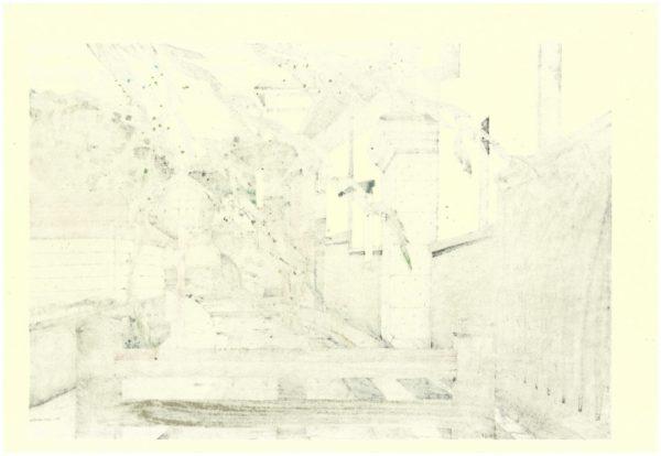 Nishijima Original Woodblock Print Shirakawa Atari