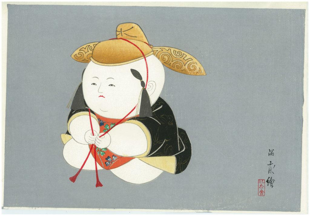 NISHIZAWA TEKIHO GOSHO DOLL 1 WOODBLOCK PRINT
