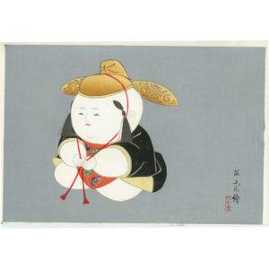 Nishizawa Tekiho Gosho Doll 2 Woodblock Print