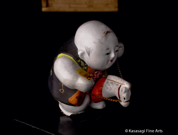 Antique Japanese Gosho Doll With Horse