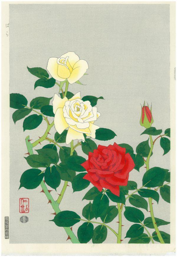 Nisaburo ITO Woodblock Print Roses
