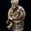 Antique Zōge Netsuke Man With Dog
