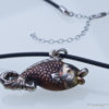 Antique Japanese Fish Pendant And Chain