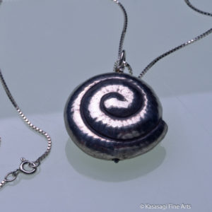 Japanese Nautilus Ojime Pendant And Chain