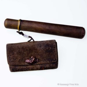 Antique Tobacco Pouch Daikonenten on Fish