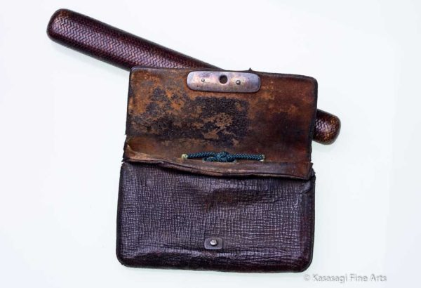 Antique Tobacco Pouch Wild Boar Clasp