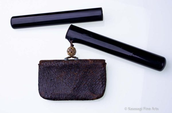 Antique Tobacco Pouch With Daikonenten Clasp