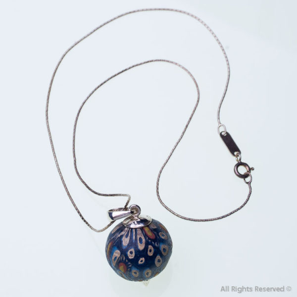 Glass Ojime Pendant And Necklace