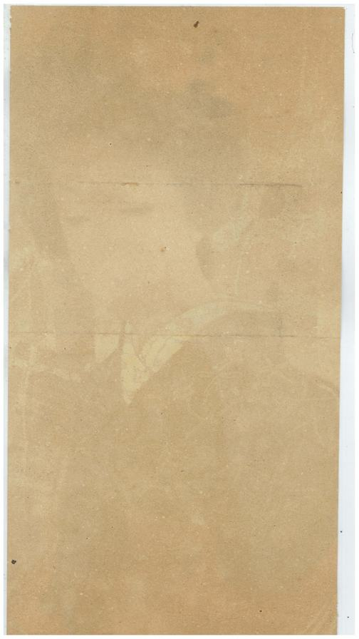 verso of Lithograph of Beautiful Woman 1