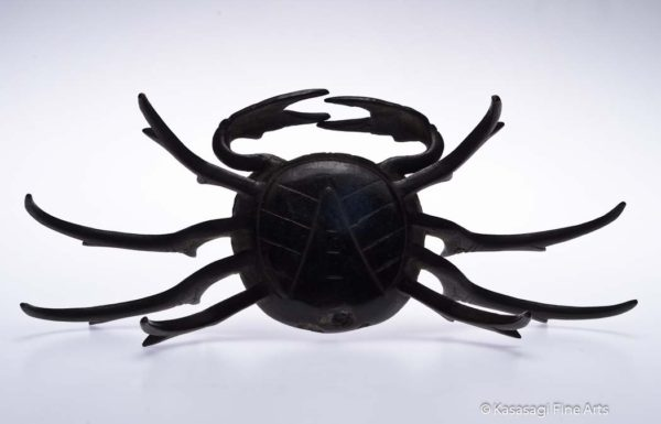 Antique Edo Iron Crab Okimono