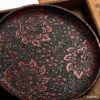 Antique Handcarved Urushi Lacquer Plate