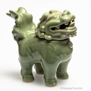 Antique ShiShi Celadon Koro