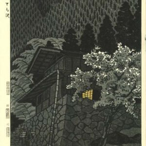 Shiro Kasamatsu Woodblock Mountain Stream of Atera
