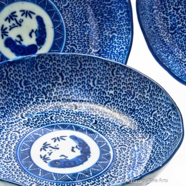 Four Imari Low Lipped Dishes