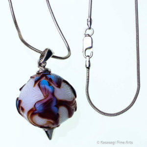 Peking Glass Pendant And Chain