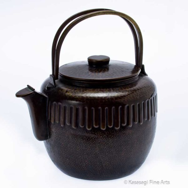 Antique Bronze Japanese Kettle