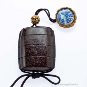 Antique Lacquer And Staghorn Japanese Inro