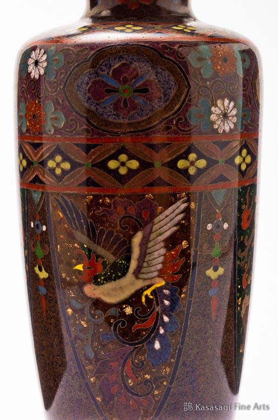 Namikawa Yasuyuki Style Cloisonne Vase